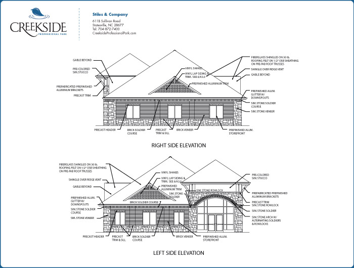Creekside professional park stiles and company 4000 sq ft office plan